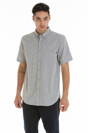 OBEY - Benson Woven S/S Men's Shirt, Grey - The Giant Peach