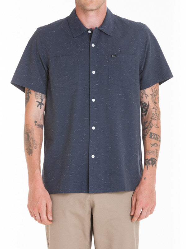 OBEY - Brighton Woven S/S Men's Shirt, Charcoal - The Giant Peach - 1