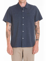 OBEY - Brighton Woven S/S Men's Shirt, Charcoal - The Giant Peach