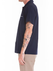 OBEY - Wicker Woven S/S Men's Shirt, Navy - The Giant Peach - 2