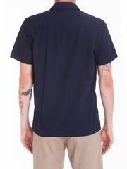 OBEY - Wicker Woven S/S Men's Shirt, Navy - The Giant Peach