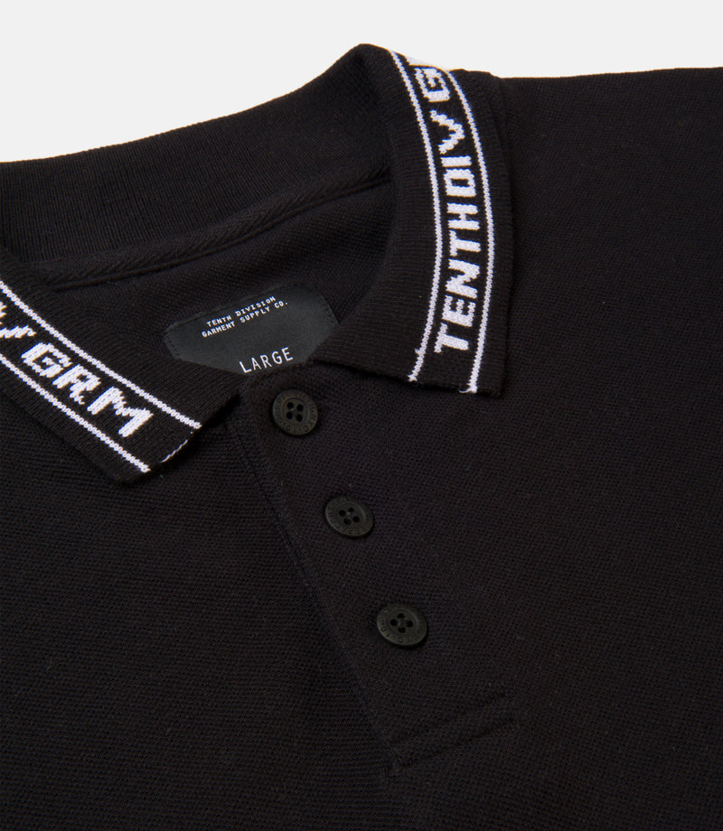 10Deep - Sharps Men's Polo, Black - The Giant Peach