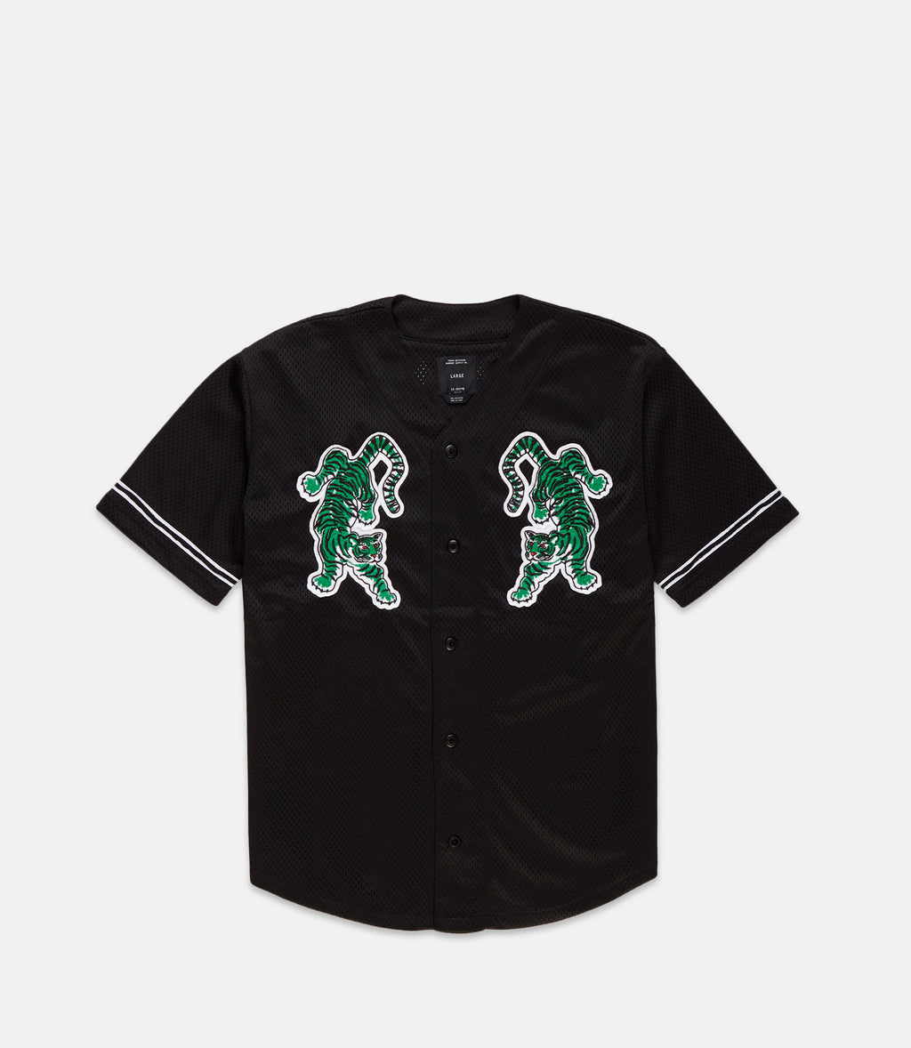 10Deep - Top Of The Chain Men's Baseball Jersey, Black