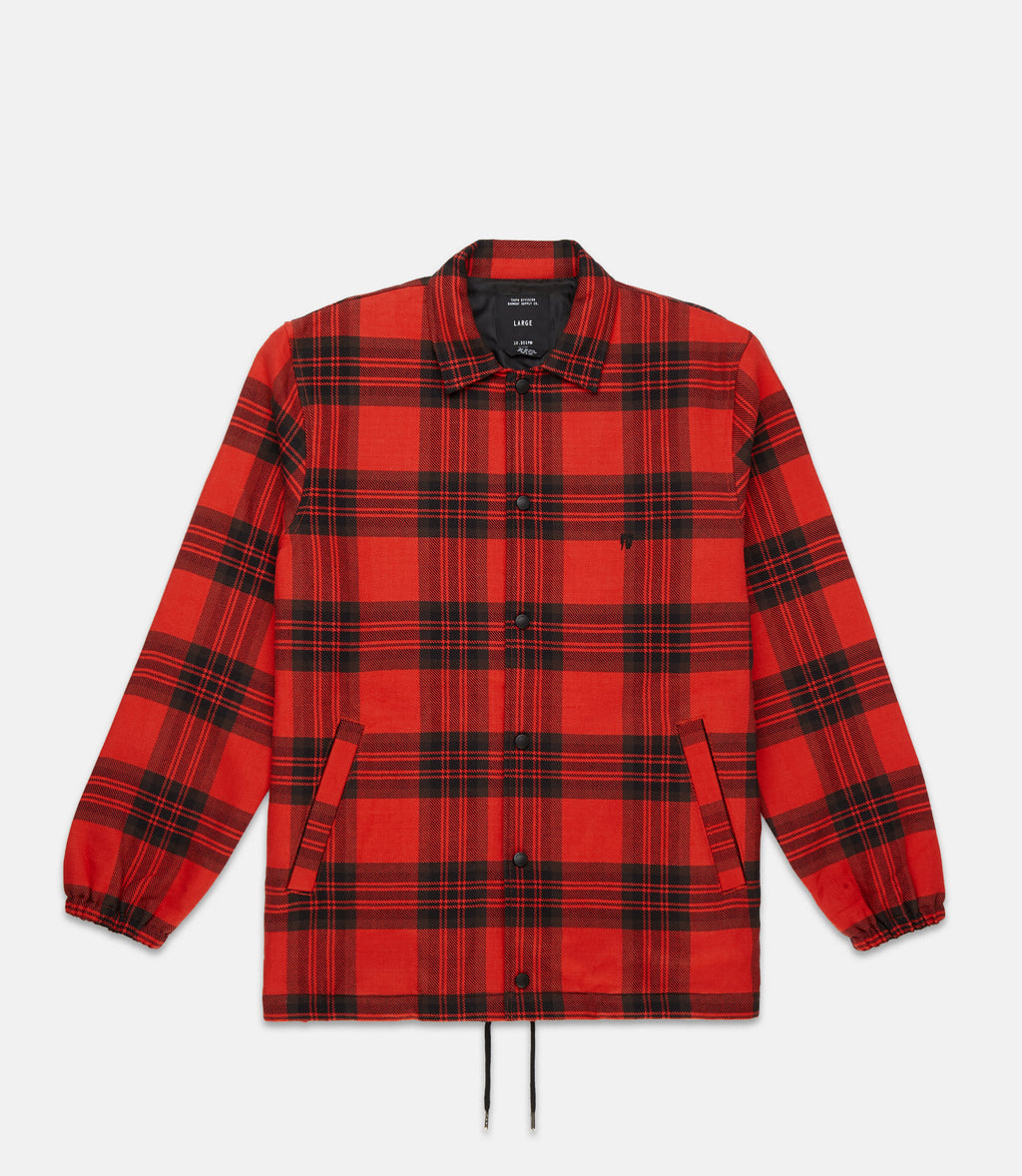 10Deep -  Flannel Men's Coach's Jacket, Red