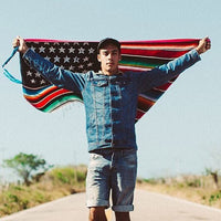 Akomplice x Nacho Becerra - Mi Bandera Wall Flag, Multi - The Giant Peach