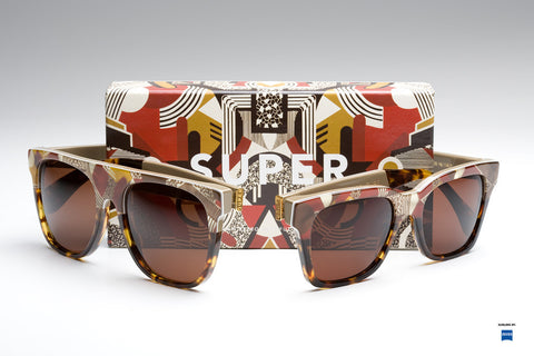SUPER - Flat Top Motiv Sunglasses
