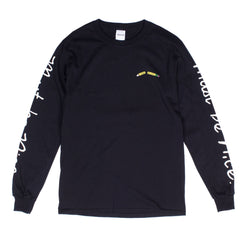 RIPNDIP - Standards Men's L/S Tee, Black - The Giant Peach