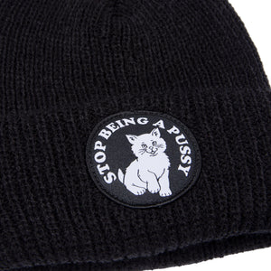 RIPNDIP - SBAP Men's Rib Beanie, Black - The Giant Peach