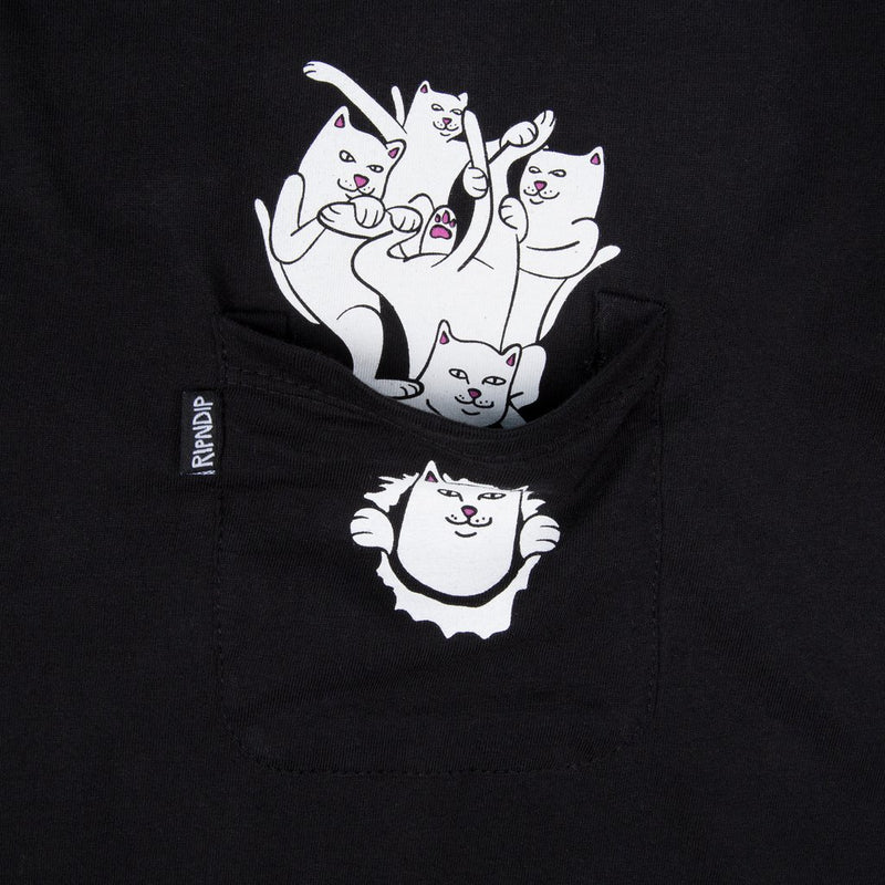 RIPNDIP - Nermamaniac Men's Pocket Tee, Black