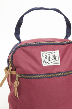 OBEY - Bad Lands Backpack, Burgundy - The Giant Peach