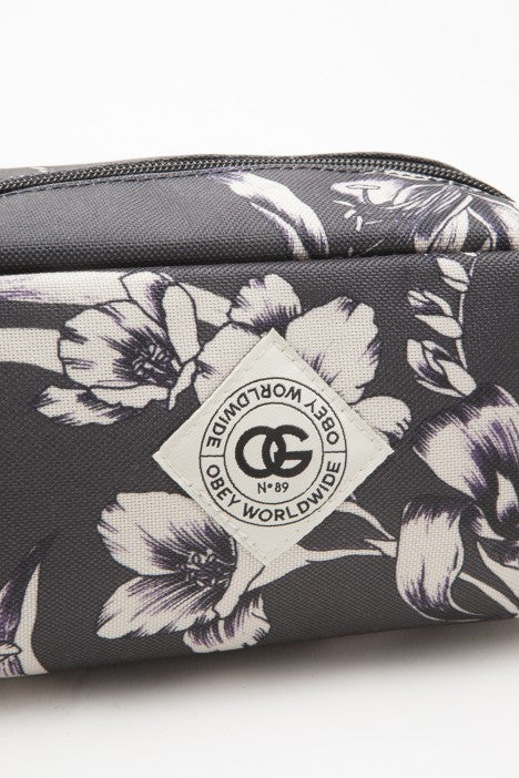 OBEY - Dark Orchid Zip Pouch, Black Multi - The Giant Peach