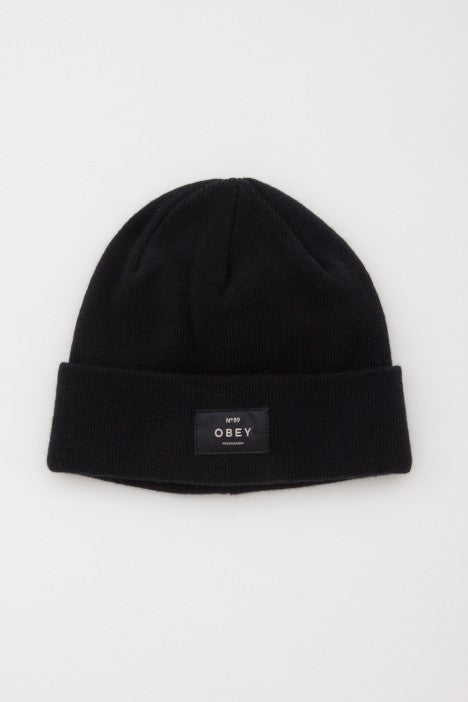 OBEY - Vernon Beanie, Black - The Giant Peach