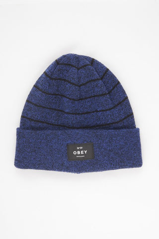 OBEY - Vernon Beanie, Cobalt/Black - The Giant Peach - 1