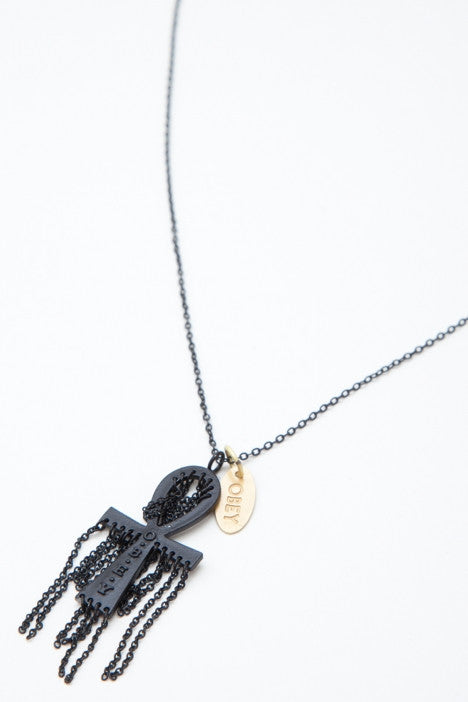 OBEY Ansata Necklace, Black - The Giant Peach