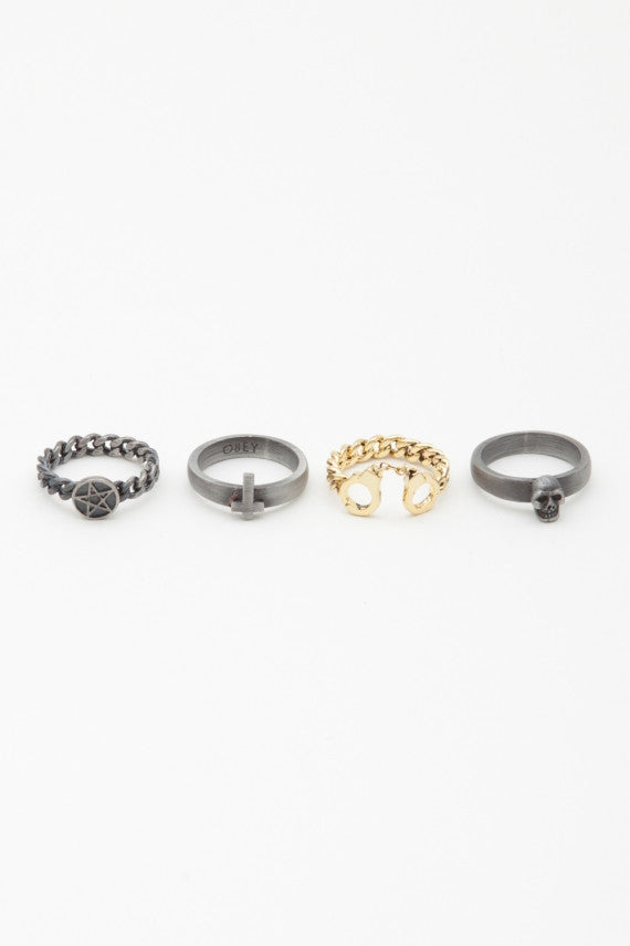 OBEY - Sinful Stack Rings - The Giant Peach