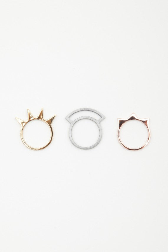 OBEY - Spike Stack Rings - The Giant Peach - 1