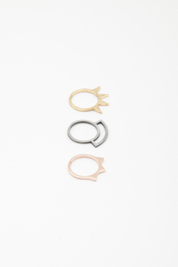 OBEY - Spike Stack Rings - The Giant Peach