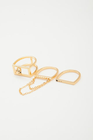 OBEY - Nias Stackable Rings, Gold