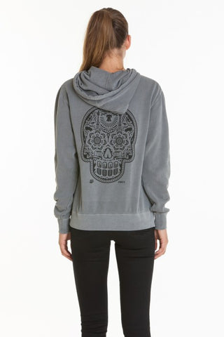 OBEY - DOTD Pullover Women's Hood Fleece, Dusty Charcoal