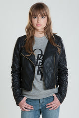 OBEY - Neon Night Women's Jacket, Black - The Giant Peach