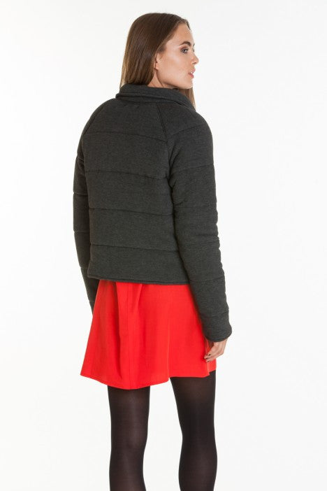 OBEY - Sierra Quilted Wrap Women's Jacket, Heather Black - The Giant Peach