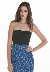 OBEY -Weekend Alibi Women's Tube Top, Licorice - The Giant Peach