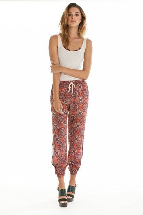 OBEY - Sofia Women's Pants, Burgundy Multi - The Giant Peach - 1