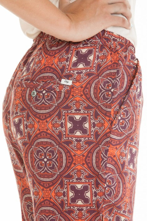 OBEY - Sofia Women's Pants, Burgundy Multi - The Giant Peach - 3