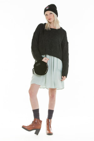 OBEY - Atherton Crewneck Sweater, Heather Black - The Giant Peach