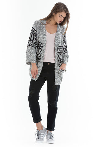 OBEY - Nina Women's Cardigan, Cream Multi