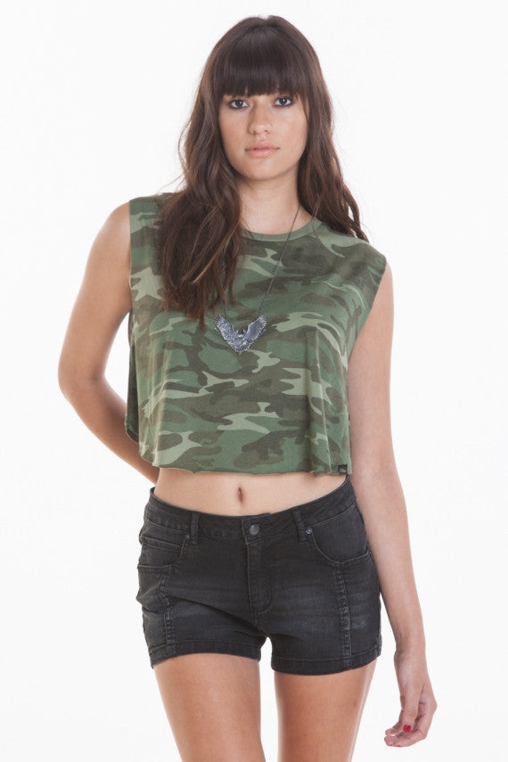 OBEY - Vintage Voodoo Womens Tee, Classic Camo - The Giant Peach