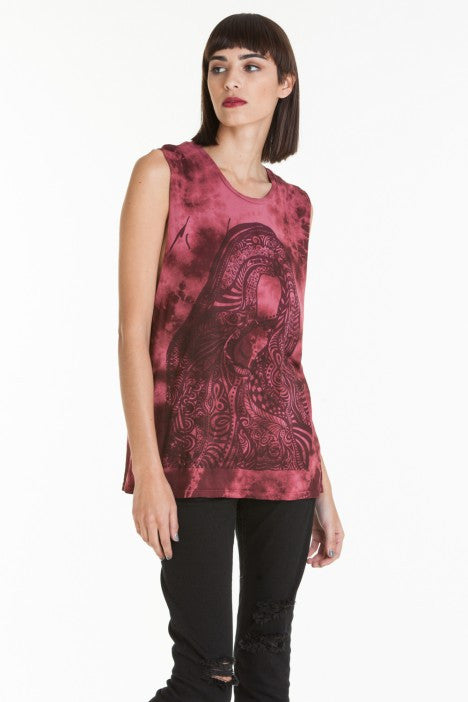 OBEY - Obey Remember Yourself Women's Tee, Burgundy Tie Dye - The Giant Peach