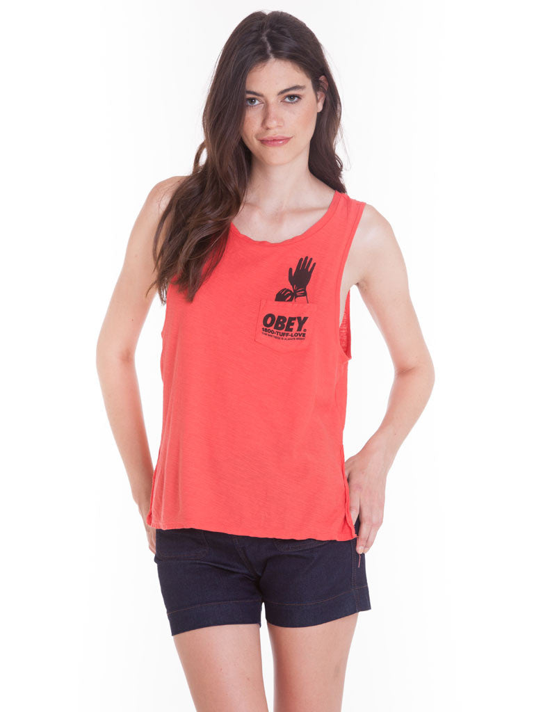 OBEY - Tuff Love Women's Tank, Poppy - The Giant Peach
