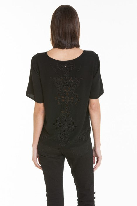 OBEY - Essex Woven Women's Tee, Black - The Giant Peach