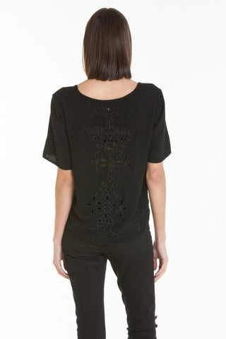 OBEY - Essex Woven Women's Tee, Black