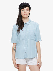 OBEY - St. Gilles Women's Shirt, Chambray - The Giant Peach - 1