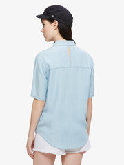 OBEY - St. Gilles Women's Shirt, Chambray - The Giant Peach