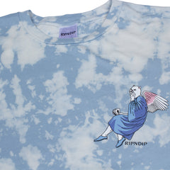 RIPNDIP - Heaven and Hell Men's Tee, Cloud Wash - The Giant Peach