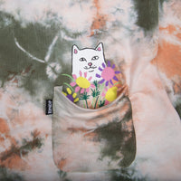 RIPNDIP - Flowers For Bae Men's L/S Tee, Green/Pink Acid Wash - The Giant Peach