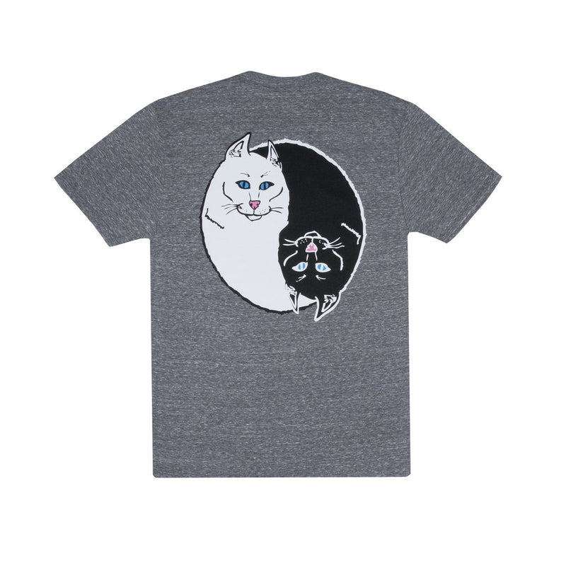 RIPNDIP - Nermal Yang Men's Tee, Heather Grey