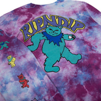 RIPNDIP - Dancing Nerm Men's L/S Tee, Tie Dye Mineral Wash - The Giant Peach
