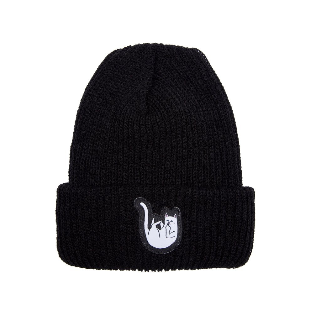 RIPNDIP - Falling For Nermal Men's Rib Beanie, Black