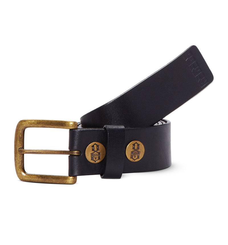REBEL8 - Classic Leather Belt, Black - The Giant Peach