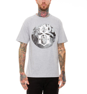 REBEL8 - Smash the State Logo Men's Tee, Grey - The Giant Peach