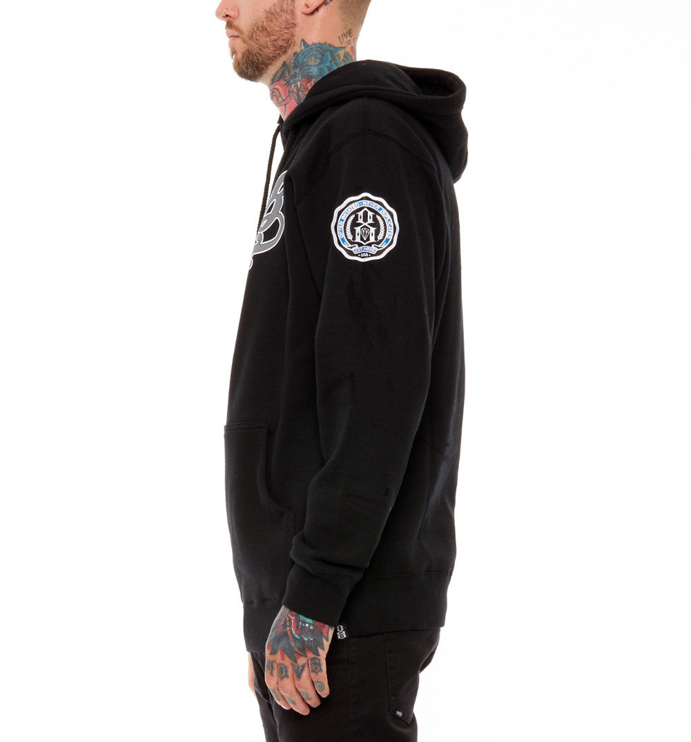 REBEL8 - Lefty Men's Pullover Hoodie, Black - The Giant Peach