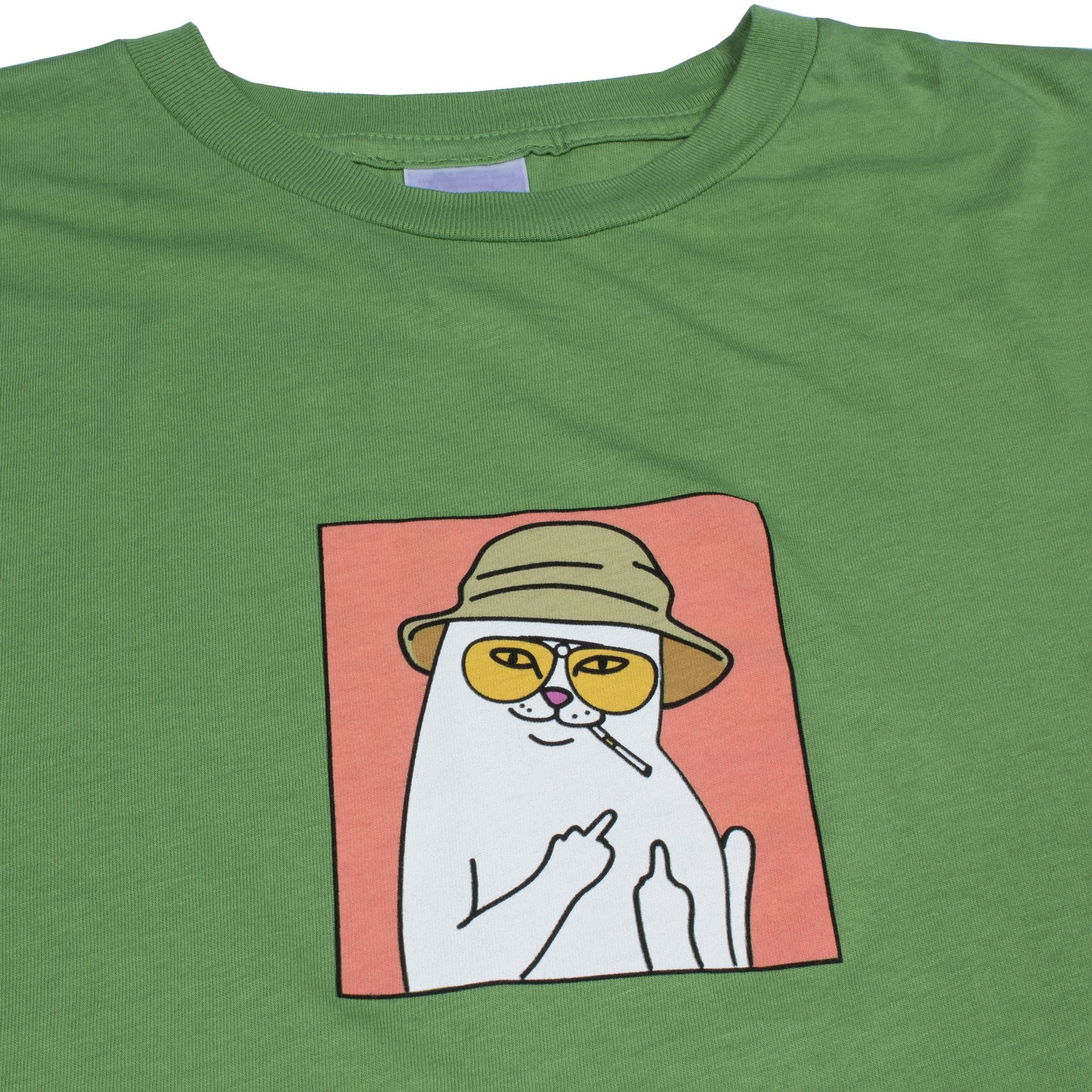 RIPNDIP - Nermal S. Thompson Men's Tee, Olive - The Giant Peach