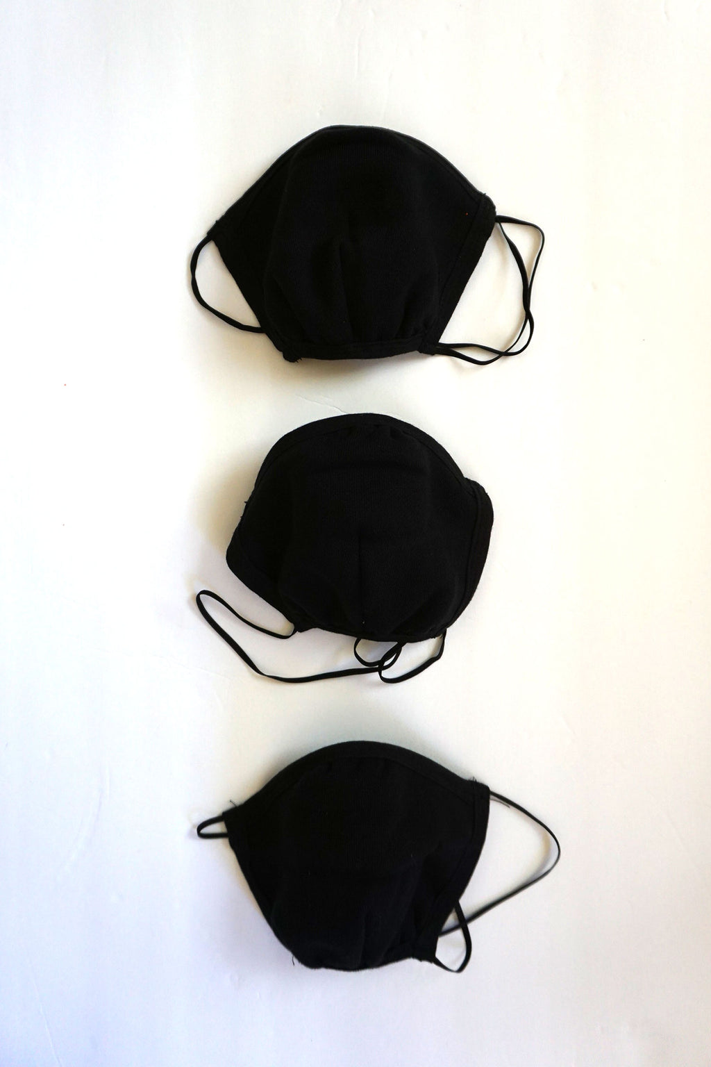 Los Angeles Apparel - 3 Pack of Cotton Face Masks, Black