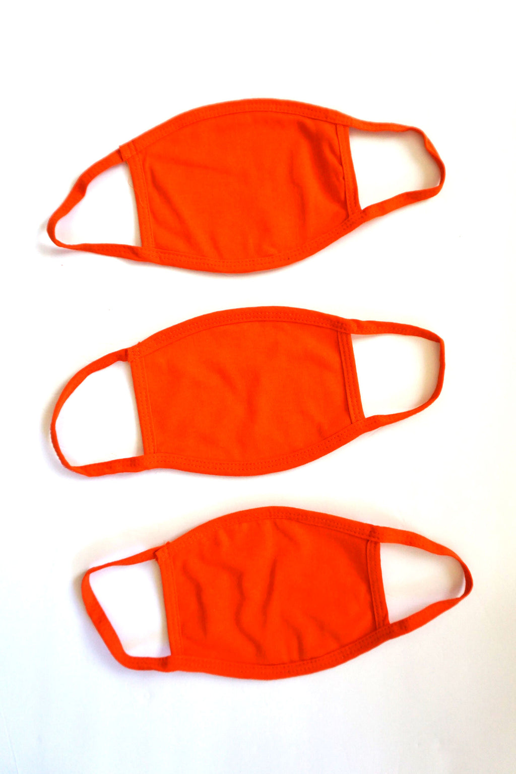 3-Pack of Cotton Face Masks, Orange