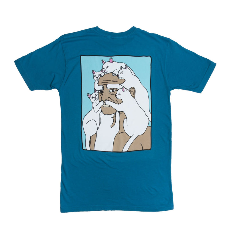 RIPNDIP - Nerm Beard Men's Tee, Slate Blue - The Giant Peach