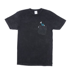 RIPNDIP - Liberty Men's Tee, Black Mineral Wash - The Giant Peach
